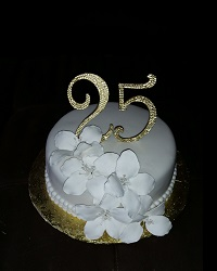 All WHite 25th Cake