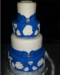 Royal Blue Tiered Cake
